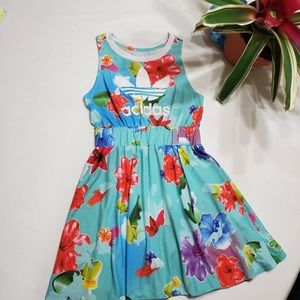 adidas Dresses - Adidas floral print dress with elastic waist